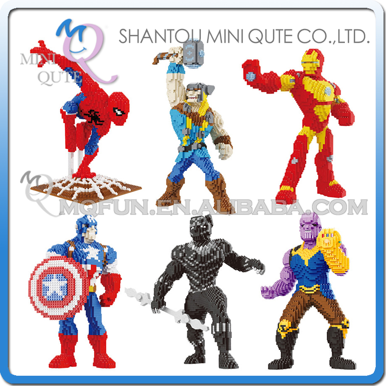SJ movie avengers black panther Spiderman thor Captain America Iron Man super hero building block action figures educational toySJ movie avengers black panther Spiderman thor Captain America Iron Man super hero building block action figures educational toy