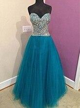 Tolles Design Farbe Eine Linie Abendkleid Reizvolle Schatz-langes Tulle Prom Night Kleider Neue Ankunft
