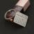 Personalizado Grabado Calendario Encanto Llavero Customizd Etiqueta de Plata Recuerdo Joyería Marca corazón Regalo de Cumpleaños Memorial