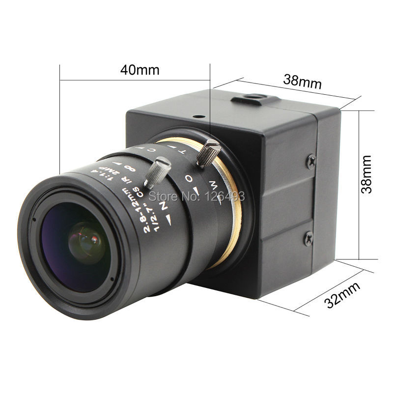 ФОТО CCTV 2.8-12mm Varifocal lens Full hd 1080P CMOS OV2710 30fps/60fps/120fps Industrial usb camera UVC for android ,linux,windows