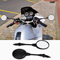 1 Pair Universal Black Folding Motorcycle Mirror Motorbike Side Mirrors Rearview Mirror 8mm 10mm For Honda