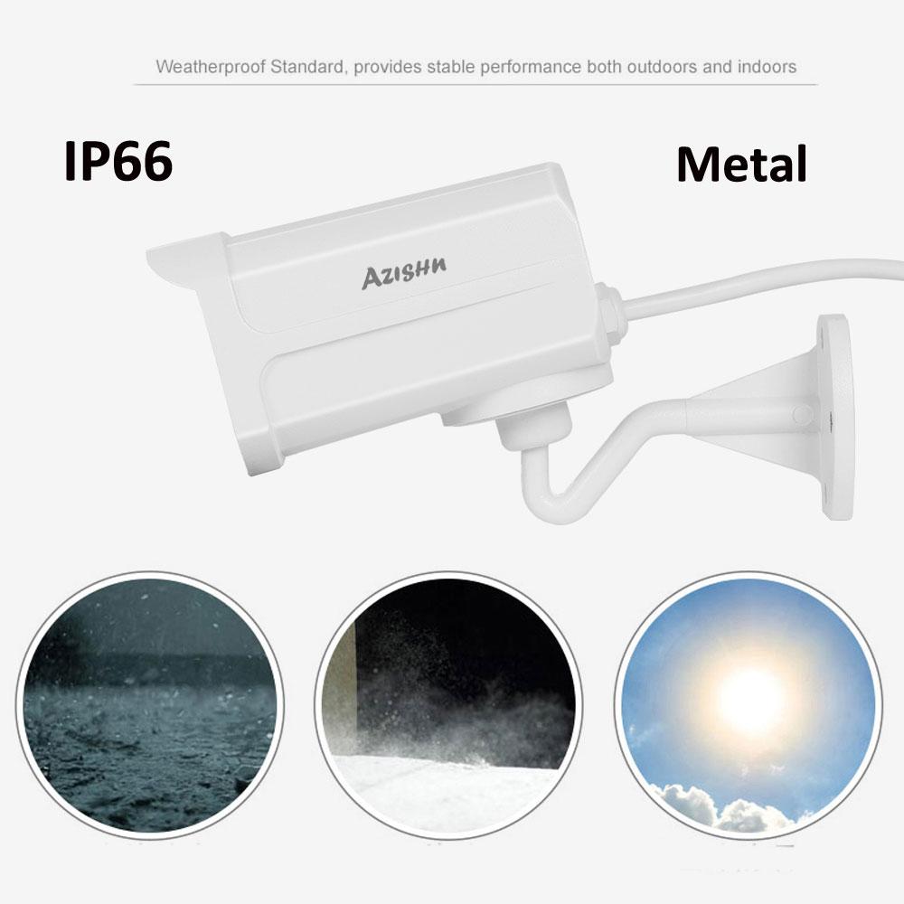 AZISHN 1080P AHD 2MP Security Camera Outdoor IP66 Waterproof with 4pcs IR LEDs for Night Vision Surveillance CCTV Bullet Camera