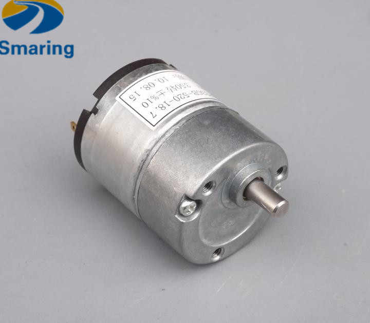 Official iSmaring 33GB-520 DC Motor,12V/350rpm High Speed, metal gear motor for RC smart tank car, Robot etc.