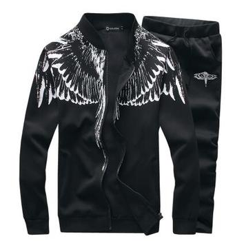 Wings Prints Hoodies Classic Tracksuit