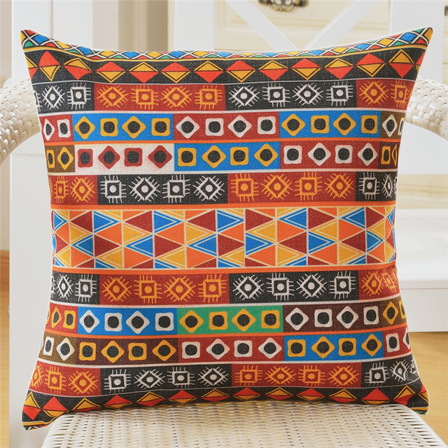 Bohemian Striped Cushion Covers