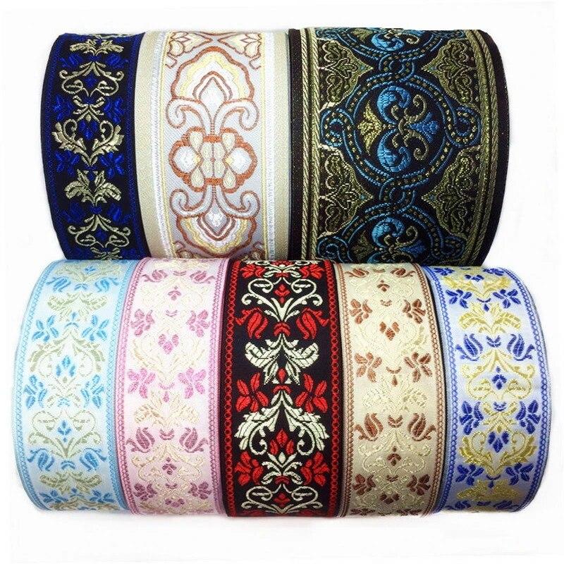 Boheng Cinta adhesiva floral arte decoraci/ón encaje encaje cinta moldura hueca 1 Beige