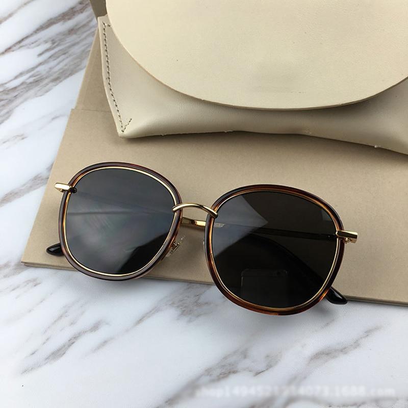 2018 Hot mode lunettes de soleil polarisées femmes hommes fou écraser haute qualité ronde lunettes de soleil Zonnebril Dames UV400