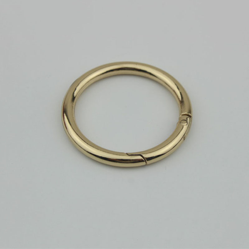 10pcs/lot 3.8cm Metal Spring Snap Clasp Ring Buckle Opening Connection Alloy DIY Leather Handbag Belt Strap Bag Accessories