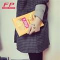 Moda Sacos de Mulheres Envelope Bolsa De Couro PU Embreagens Dia Sacos de Batata Chips 3 Tamanho Disponíveis sacos de ombro Das Mulheres Bolsas Das Senhoras
