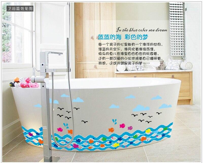 1pcs Cartoon Clown Fish Wall Decoration Stickers Decals Bathtub Bathroom French Window Glass Home Accessories adesivo. Popular French Bathroom Accessories Buy Cheap French Bathroom