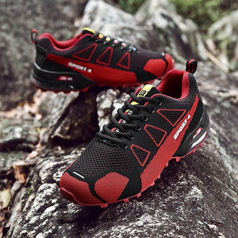 Hiking-Shoes Breathable Large-Size Mesh Spring Air-Cushion Tide Men's