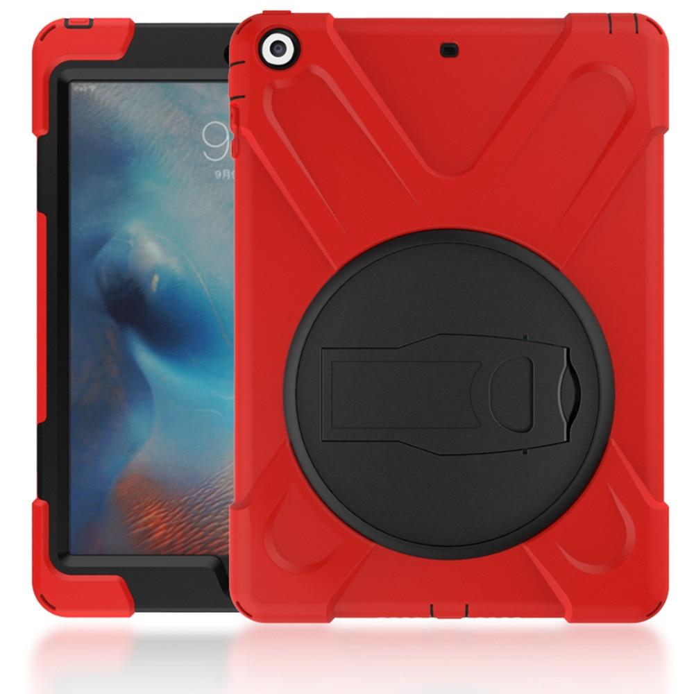 Heavy Duty For iPad 6 iPad Air 2 Shockproof Armor Case Silicon + PC Kickstand Funda For iPad Air 2 iPad 6 Cover Stand Anti-Drop дырокол deli heavy duty e0130