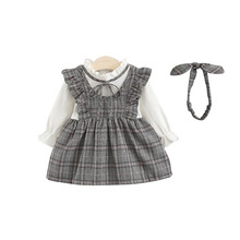 Baby Girl Long Sleeve Dress Clothes 0-3 Years