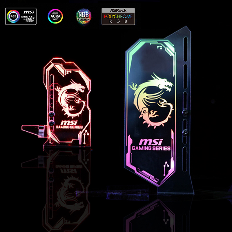 Acrylic GPU Bracket RGB Illuminated Graphics Card Chassis Belief Lamp Vertical Customized Support ASUS AURA Multi Style