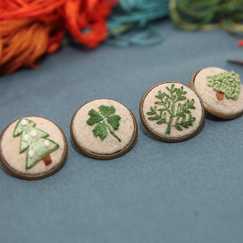 DIY Ribbon Embroidery Kit Brooch For Beginners Floral Pattern Cross Stitch Set Swing Art Handmade Craft Handwork Creative Gfit