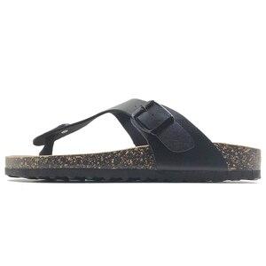 Image 4 - 新 2019 夏のスタイルの靴女性サンダルコルクサンダルトップ品質バックルカジュアルスリッパフリップフロッププラスサイズ 6  11 無料 S