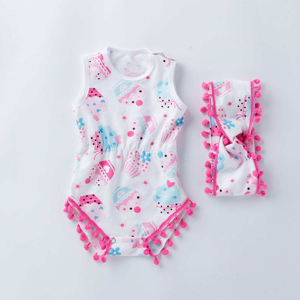 baby girl clothing Newborn 0-24M Infant Baby Boy Girls baby clothes body Cartoon Bowknot Rompers Outfits Clothes dropshipping
