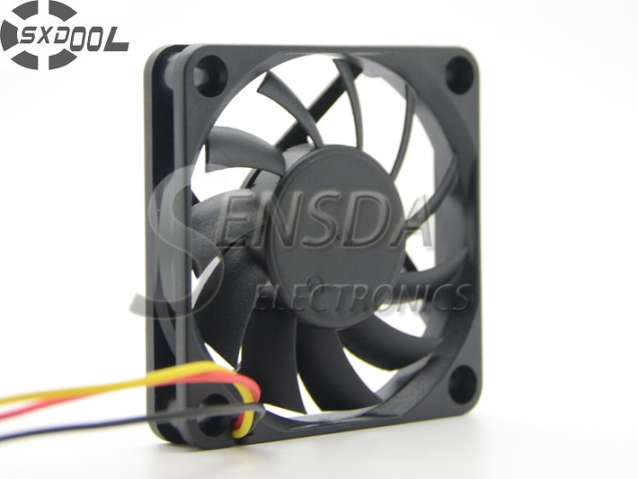 SXDOOL SD6010BLM 6010 6cm 60mm 60*60*10 mm Dual Ball DC 12V 0.18A 3 wire lead 3 pin computer case cooling fan free shipping y s tech 6cm 60 60 10mm 6 6 1cm 6010 fd126010hb 12v 0 24a 3wire cooling fan