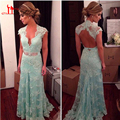 2016 Hot Sale Retro Light Blue Cheap Bridesmaid Dresses Backless Appliques Women Formal Guest Dress For Weddings Party With Sash