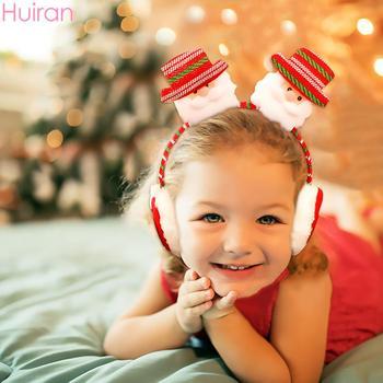HUIRAN boże narodzenie z pałąkiem na głowę dziecko boże narodzenie opaski dziewczyna Santa dekoracje świąteczne prezent na boże narodzenie dla dzieci 2020 szczęśliwego nowego roku tanie i dobre opinie CN (pochodzenie) W1814 Cloth Flannel Christmas party Xmas party Noel Natal Navidad Happy New Year
