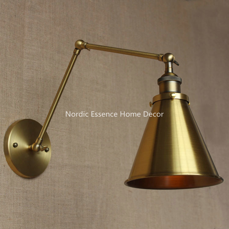 retro minimalist designer nordic american country pastoral retro bronze decorative wall sconce warehouse restaurant cafe lamp