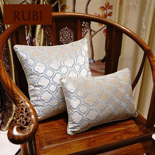 1 Piece Embroidered Velvet Cushions Without Inner Chinese Classic Decorative  Throw Pillow Flower Cojines Vintage Home