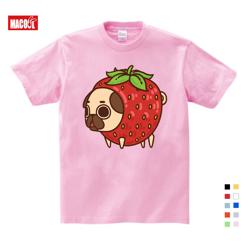Girls Clothes for Summer T shirt 3 12 Years O Neck Short White T Shirt Pet Dog Cartoon Graphic Girls Baby Cotton Girl Tshirt in T Shirts from Mother Kids