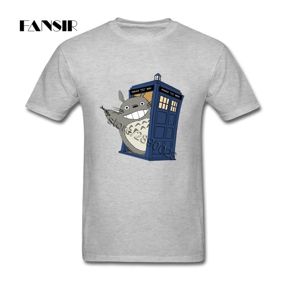 Доктор Кто Тоторо футболка с коротким рукавом Подростковая новая стильная рубашка 100% хлопок с круглым вырезом Мужская футболка для команды|Футболки|   | АлиЭкспресс