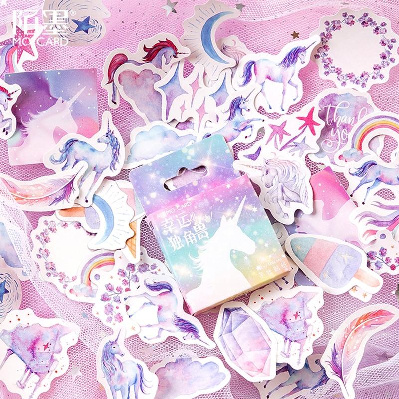 46 Pcs/box Fantasy starry unicorn animal mini paper sticker decoration stickers DIY diary scrapbooking planner label sticker46 Pcs/box Fantasy starry unicorn animal mini paper sticker decoration stickers DIY diary scrapbooking planner label sticker