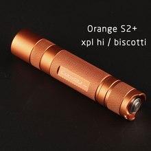 Orange S2 + linterna, con XPL HI led en el interior y vidrio recubierto de ar, firmware biscotti
