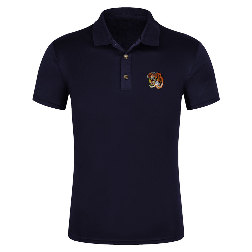New Hot Mens   Polo   Shirt Brands Male Short Sleeve Fashion Casual Slim Deer Embroidery Breathable   Polos   Men Lapel Business Jerseys