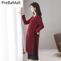 Long Maternity Dresses Breastfeeding Clothes For Pregnant Women Dress Nursing Vestidos Para Embarazadas Gravidas Pregnancy B0545