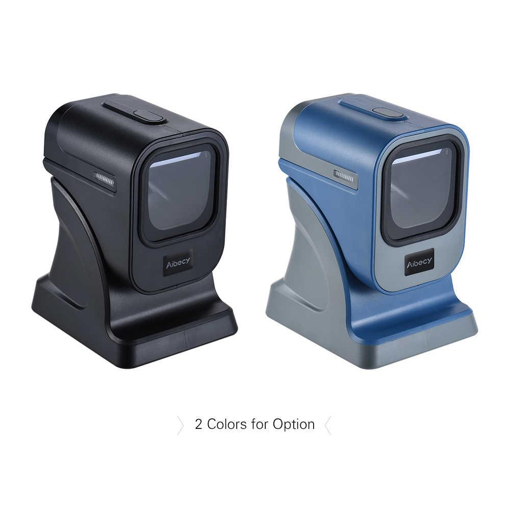 Aibecy Đa Hướng 1D/2D Presentaion Máy Quét Mã Vạch Đọc Cương Cao Tốc Độ Autoscanner cho Các Cửa Hàng Siêu Thị Thể Hiện