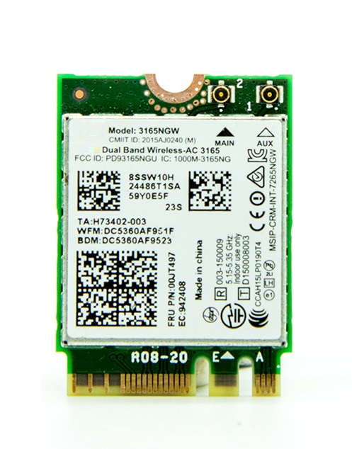 SSEA new for Intel Wireless-AC 3165 <font><b>3165NGW</b></font> 802.11AC WIFI Bluetooth 4.0 NGFF card for IBM Lenovo Thinkpad E460 E560 FRU: 00JT497 image