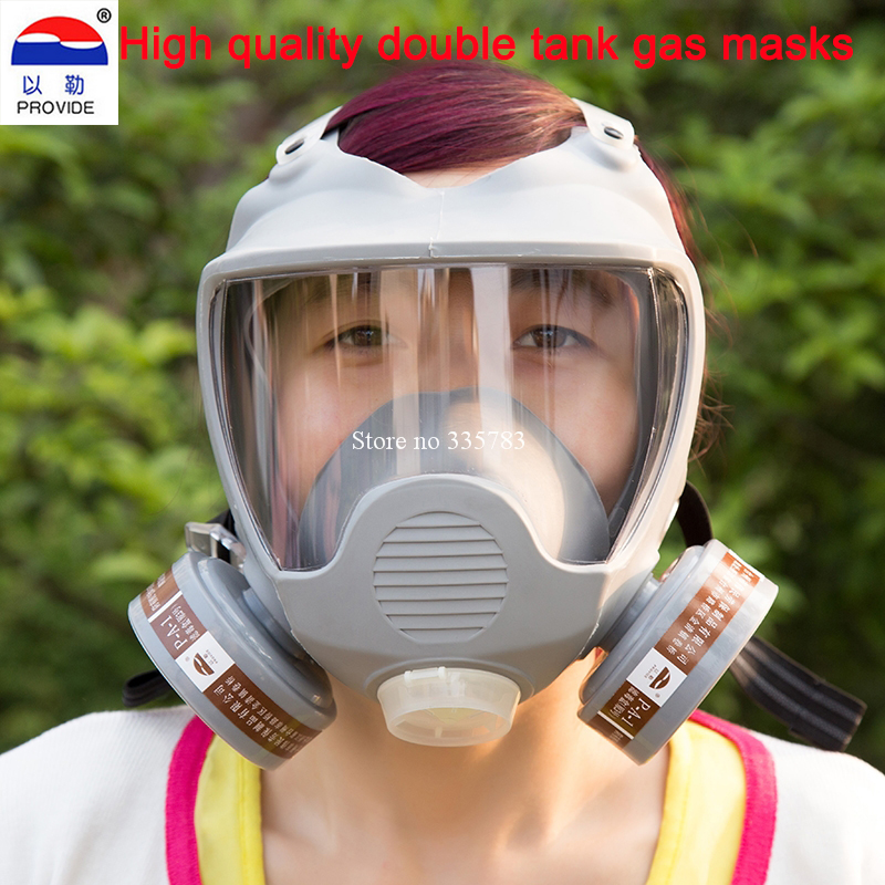 Full face gas Mask Organic Vapor Cartridge Respirator Face Mask for Painting Spraying Anti-dust formaldehyde Fire comparable6800 2017 new full face gas mask cartridge organic vapor respirator mask spray paint anti dust formaldehyde fire comparable 6800