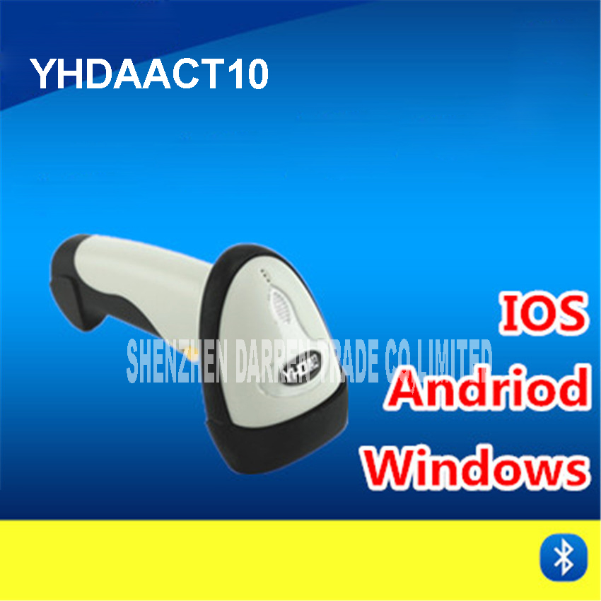 USB portatile лазерной CT10 Беспроводной Bluetooth сканер штрих-кода считывания штрих-кода 200 скан/второй ручной и автоматический ТПУ ABS Материал