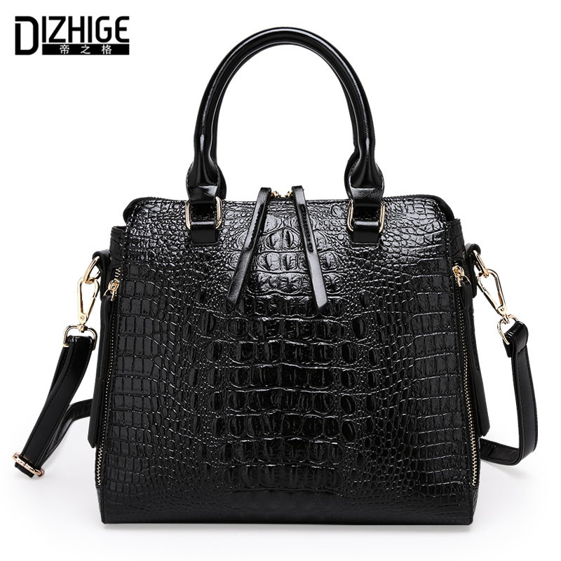 Fashion Women Handbag 2016 Famous Designers Brand Woman Shoulder Bags Leather Embossed Bag Lady's Crocodile Classic Handbag Hot