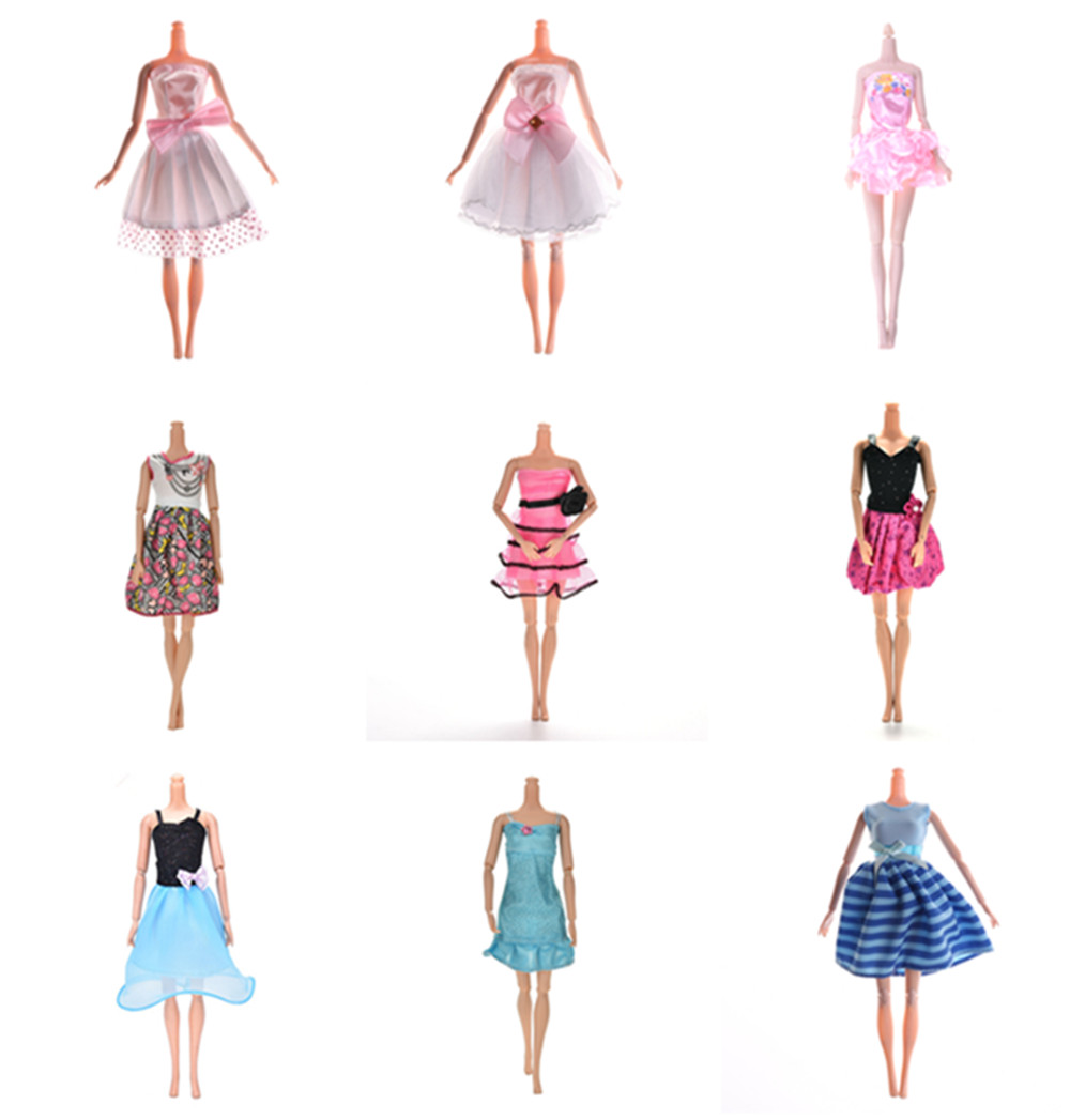 Hangmade Style Outfits Mini Dress Cute Skirts Tops Clothes For Doll Accessories Kids Toy Gifts