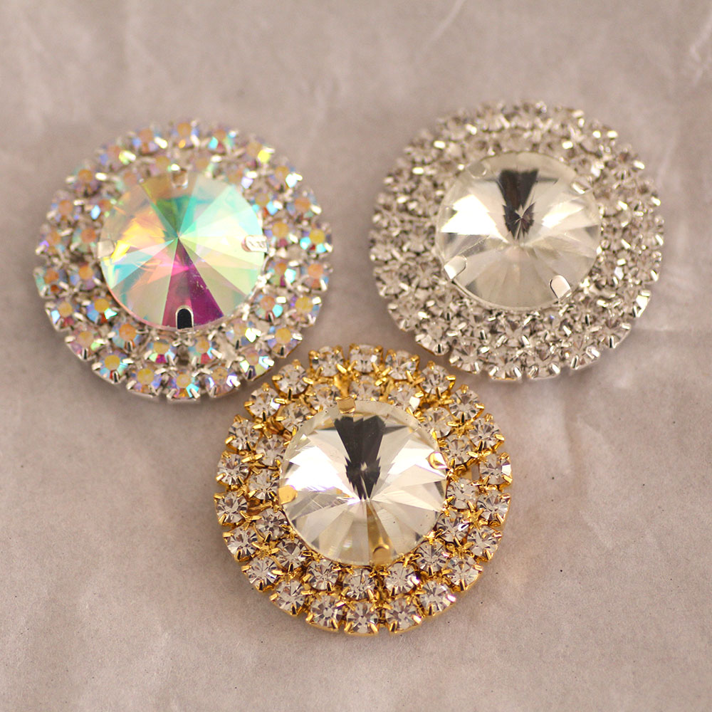 Detail Feedback Questions about 1pcs lot Crystal Rhinestone Buttons for Sew  on rhinestones Garments 85e3629d3461
