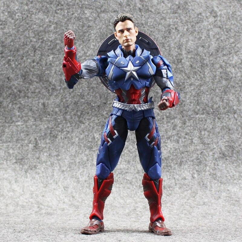 1pcs 16cm Hot Movie The Avengers Captain America 1/6 Joint movable PVC Action Figure