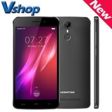 Oryginalny HOMTOM HT27 3G Telefonów komórkowych Android 6.0, mtk6580 quad core 1.3 ghz, RAM 1 GB ROM 8 GB Dual SIM Smartphone OTA Linii Papilarnych