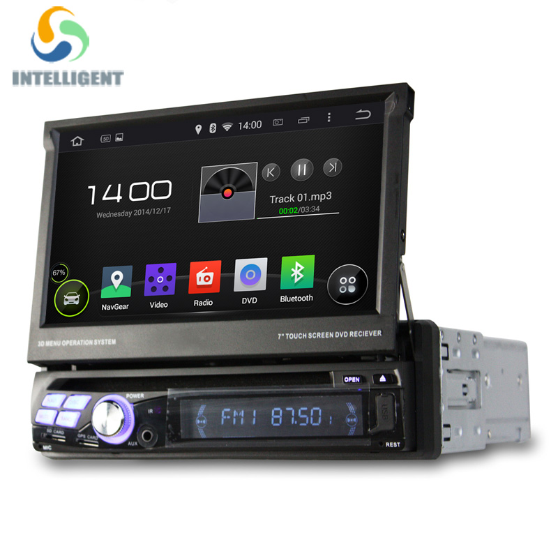 buy universal android 5 1 1 din car dvd player gps radio with quad core wifi. Black Bedroom Furniture Sets. Home Design Ideas