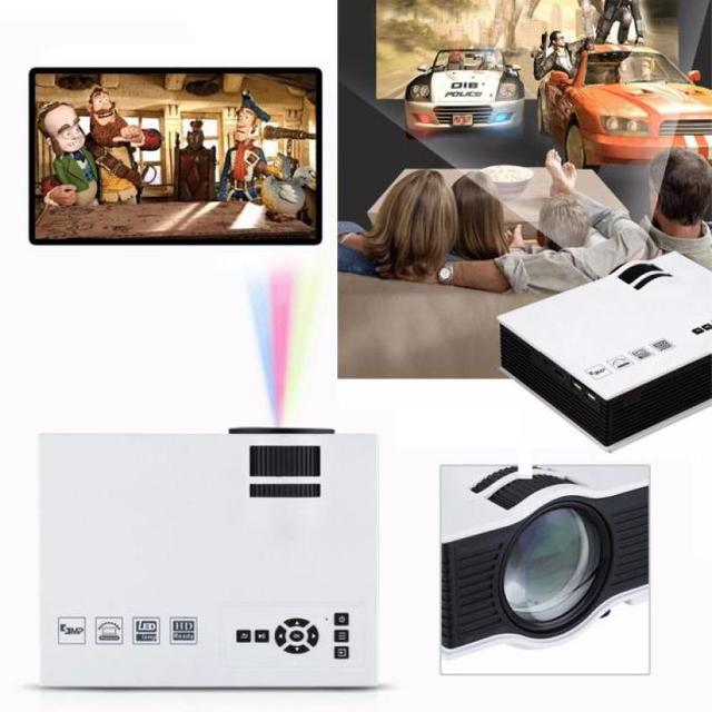 Hot selling 1800lumens 1080P HD LED Mini Home Multimedia Projector HDMI VGA USB SD Play High Quality May.17