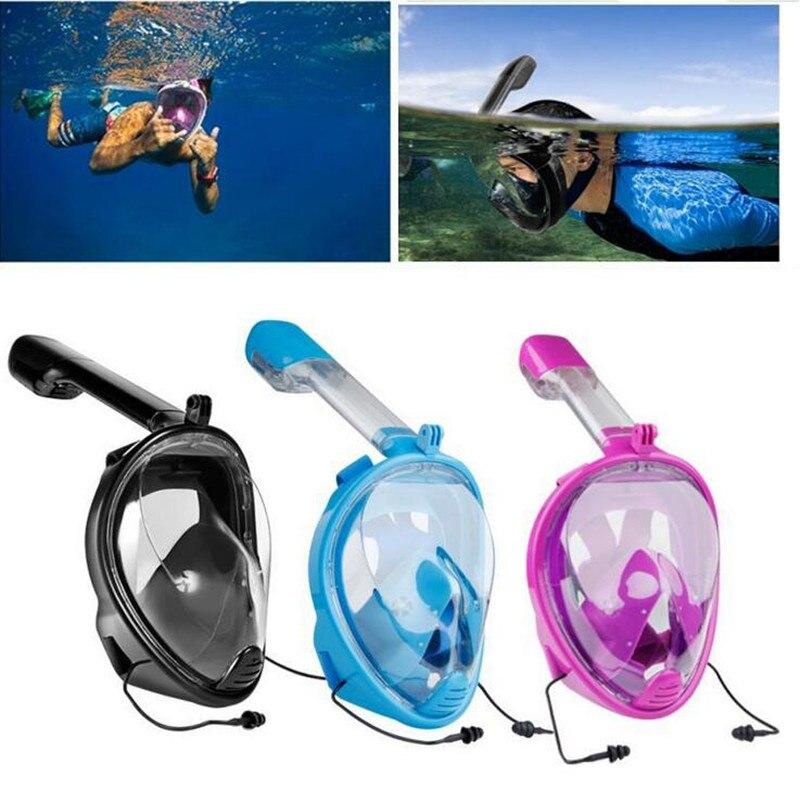 Masque de plongée plein visage adulte enfants plongée ensemble de costume d'artefact plongée en apnée natation sous-marine masque respiratoire équipement de plongée sous-marine