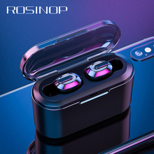 Rosinop Invisible Bluetooth Earphone TWS mini Wireless Earphones Sport Earbuds Handsfree Earpiece ecouteur sans fil bluetooth bass earphone headphone wireless bluetooth headphones with mic sport headset earpiece for phone ecouteur sans fil dt100