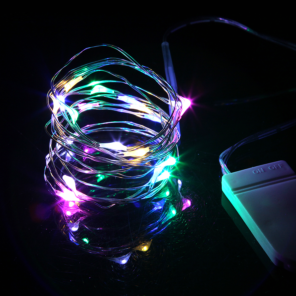 10/20/30/50LED Fairy Lights Waterproof Copper Silver String Light for Xmas Garland Party Wedding Christmas Decoration Lamp ...