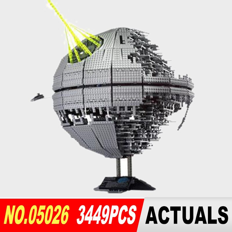 NEW LEPIN 05026 Star Wars Death Star The second generation 3449pcs Building Block Bricks Toys Compatible 10143 Christmas Gifts