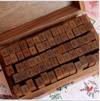 70 Pcs Set Wooden Stamps AlPhaBet Digital And Letters Seal Standardized Form Stamps 14 6 8