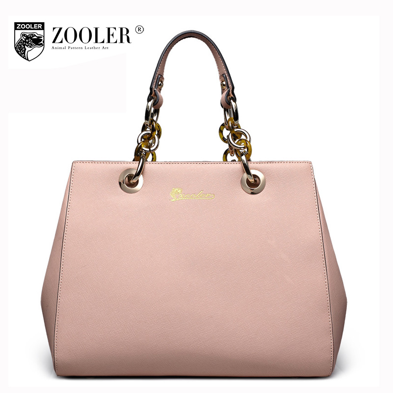 ZOOLER Fashion Tote Bags Handbags Women Famous Brands 2017 Winter Large Capacity Portable Chains Genuine Leather Shoulder Bag aosbos fashion portable insulated canvas lunch bag thermal food picnic lunch bags for women kids men cooler lunch box bag tote