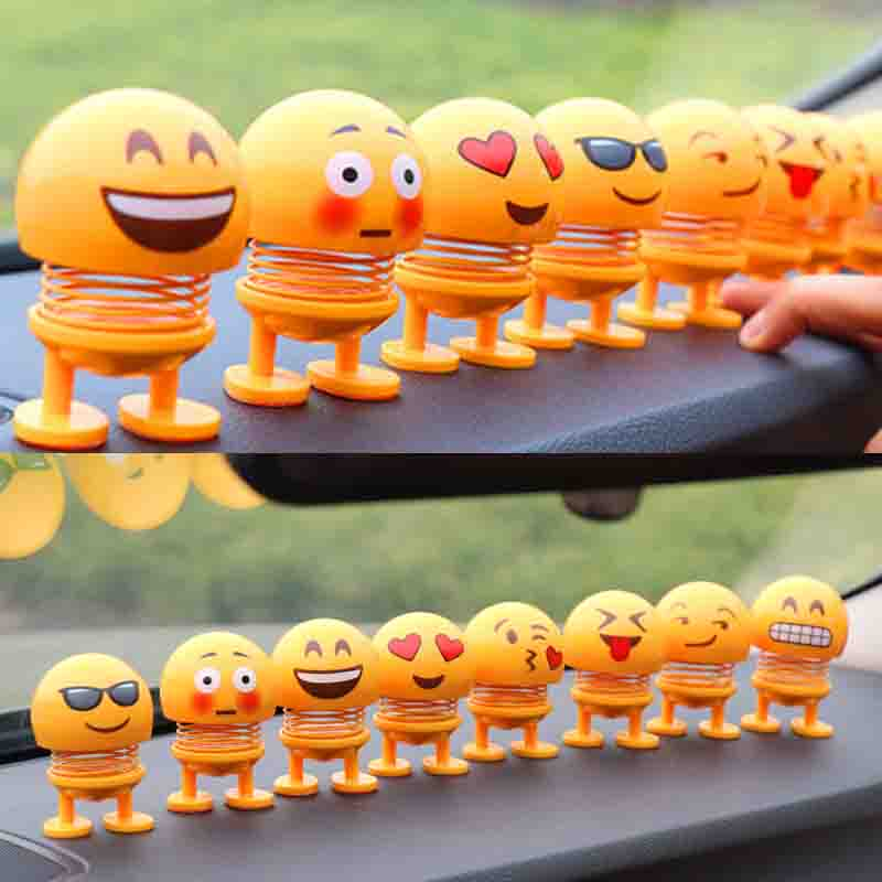 Universal Car Styling Emoji Funny Ornaments Dashboard Deco Boyfriend Girlfriend Gift Home Office